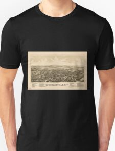 Panoramic Maps Schuylerville NY Unisex T-Shirt