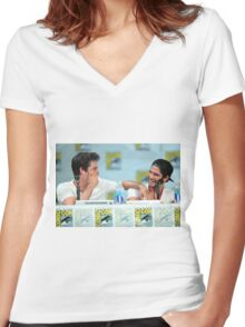 Dylan O'Brien & Tyler Posey Women's Fitted V-Neck T-Shirt