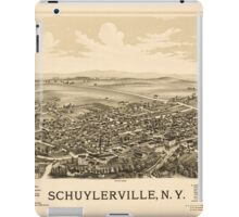 Panoramic Maps Schuylerville NY iPad Case/Skin