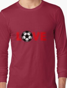 Football – Love / Soccer – Love Long Sleeve T-Shirt