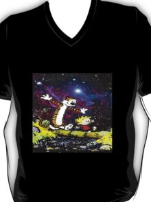 Calvin and hobbes fun in Nebula T-Shirt