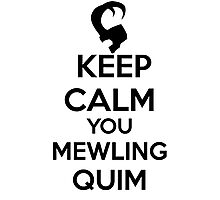 Keep Calm, Mewling Quim  Photographic Print