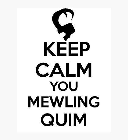 Keep Calm, Mewling Quim  Photographic Print