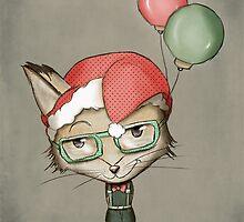 Christmas Fox by schwebewesen