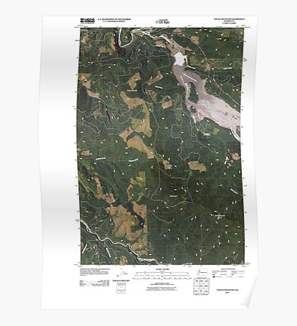 USGS Topo Map Washington State WA Toutle Mountain 20110405 TM Poster