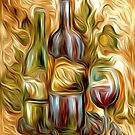 Time for Wine Oil Painting by Fred Seghetti