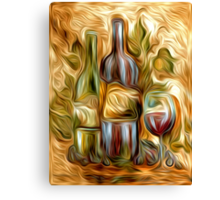 Time for Wine Oil Painting Canvas Print