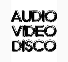 Audio Video Disco Mens V-Neck T-Shirt