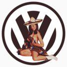 Volkswagen Pin-Up Senorita (maroon) by Sarah Caudle