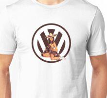 Volkswagen Pin-Up Senorita (maroon) Unisex T-Shirt