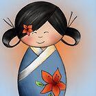 Azalea Kokeshi Doll by Kristy Spring-Brown