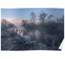 First Light on River Poster