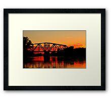 Sunset Over the Taylor Bridge Framed Print