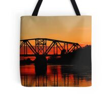 Sunset Over the Taylor Bridge Tote Bag
