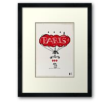 Paris and the cat Framed Print