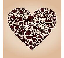 Heart food Photographic Print