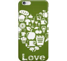 Heart food2 iPhone Case/Skin