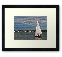 A Perfect Day for Sailing at Harbourfront Framed Print