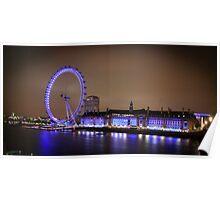 The London Eye at Night Poster