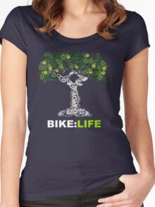 BIKE:LIFE in white Women's Fitted Scoop T-Shirt