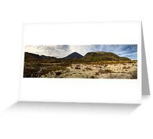 Mt Ngauruhoe pano Greeting Card