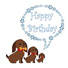 Dog n Puppies birthday card by Dawnsky2