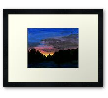Sunset and shadow Framed Print