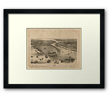 Panoramic Maps Bird's eye view of New-York  Brooklyn  drawn from nature  on stone by J Bachmann Framed Print