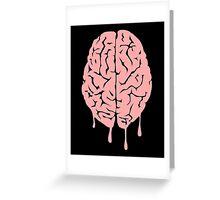 Brain melt - vector illustration of melting brain! Greeting Card