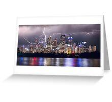 Lightning Over Sydney City Greeting Card