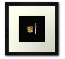 Zelda Sword & Shield Framed Print