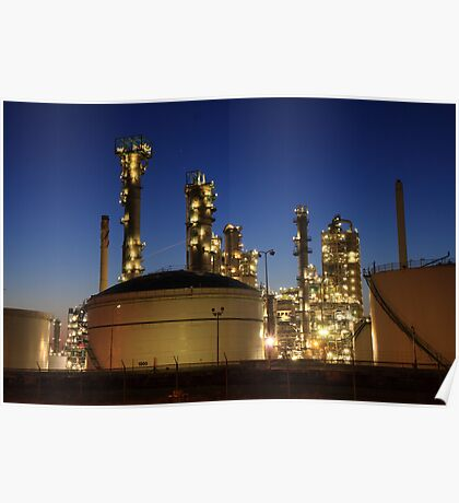 Refinery at night Poster
