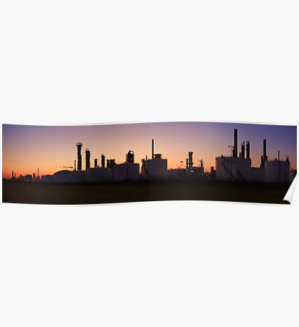 Refinery panorama view Poster