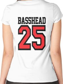 Basshead 45 (black) Women's Fitted Scoop T-Shirt