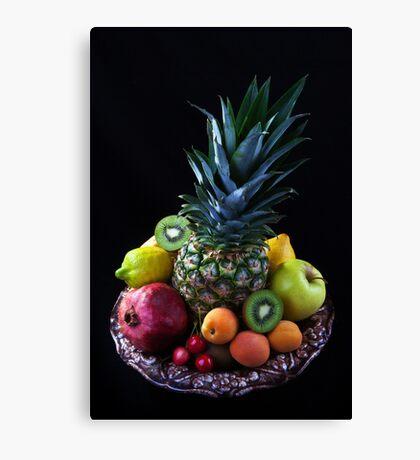 Still life of tropical fruits  Canvas Print