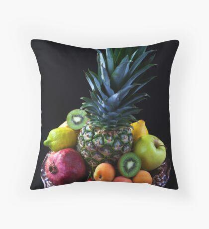 Still life of tropical fruits  Throw Pillow