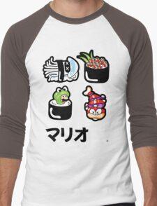 Mario Sushi Men's Baseball ¾ T-Shirt