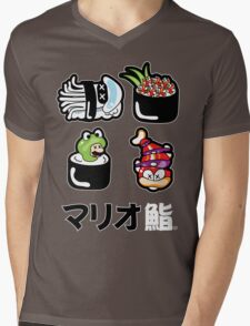 Mario Sushi Mens V-Neck T-Shirt