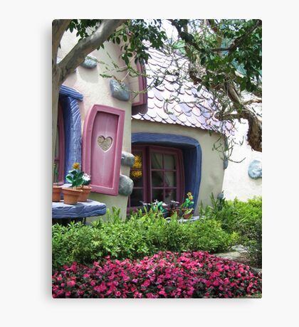 Sneaking Up on Minnie Mouse Canvas Print