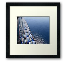 Best viewing from a big ship  Framed Print