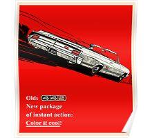 Oldsmobile 442 vintage advertisement Poster