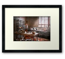 Baker - Kitchen - The commercial bakery  Framed Print