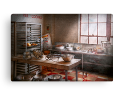 Baker - Kitchen - The commercial bakery  Canvas Print