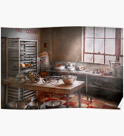 Baker - Kitchen - The commercial bakery  Poster