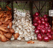 Food - Vegetable - Sweet potatoes, Garlin, and Onions, Yum  by Mike  Savad