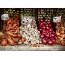 Food - Vegetable - Sweet potatoes, Garlin, and Onions, Yum  Photographic Print