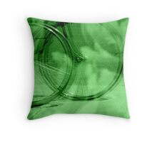 The Green Wheel for Life Throw Pillow