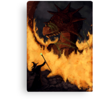 Dragon & Wizard  Canvas Print