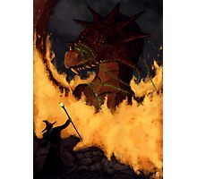 Dragon & Wizard  Photographic Print