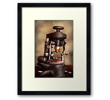 Optometry - Lens cutting machine Framed Print